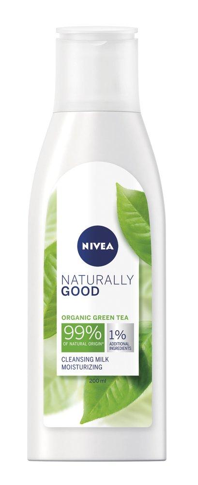 2 Čisticí pleťové mléko, Naturally Good, Nivea, 180Kč
