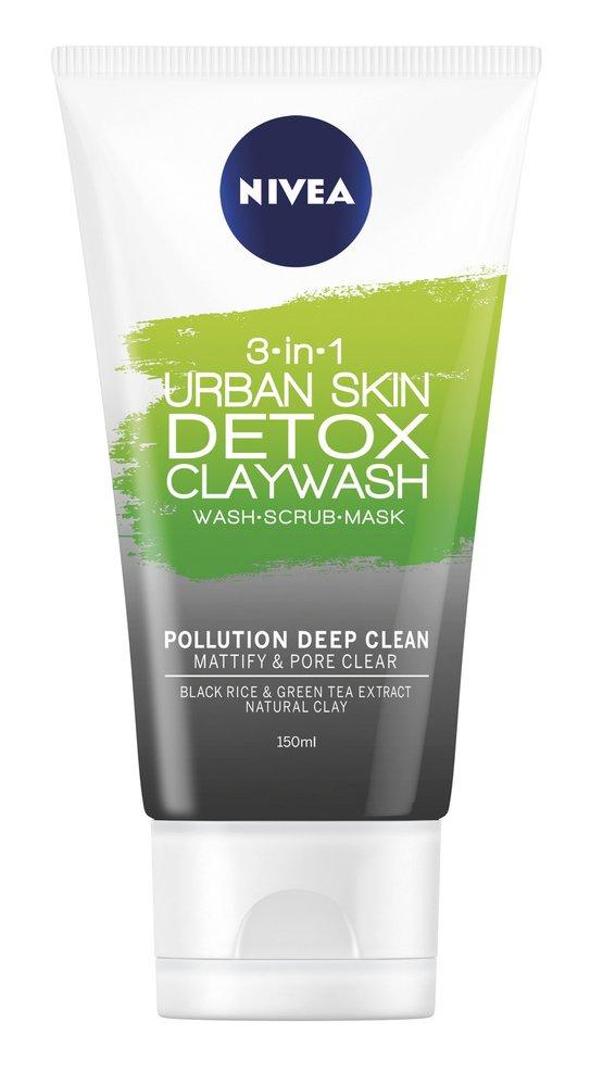 3 Detoxikační jílový čisticí krém, Urban Skin 3 v 1, Nivea, 139,90 Kč