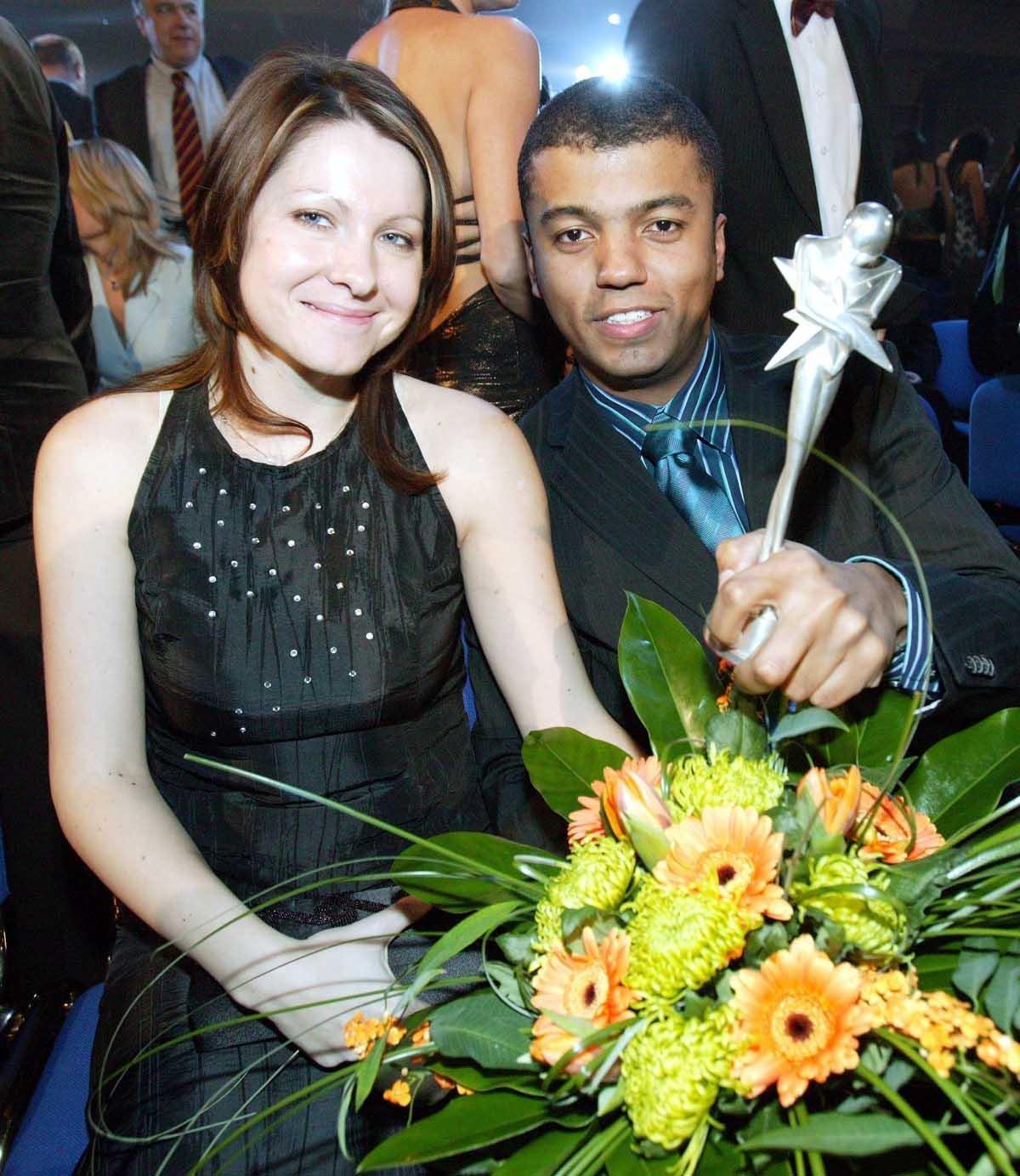 Rey Koranteng s manželkou Monikou
