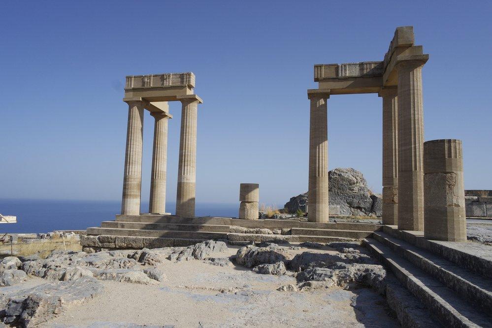 Pozůstatky akropole Lindu na Rhodosu