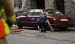 Vůz, kterým řidič v Helsinkách zabil nejméně jednoho chodce.
