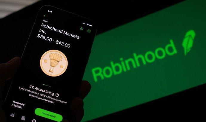 Americká makléřská společnost Robinhood Markets získala z primární veřejné nabídky akcií (IPO) 2,1 miliardy dolarů (45 miliard Kč).