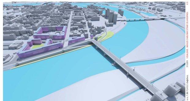 Vizualizace podoby Rohanského mostu