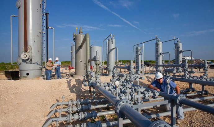Ropné zařízení firmy Anadarko v americkém Texasu