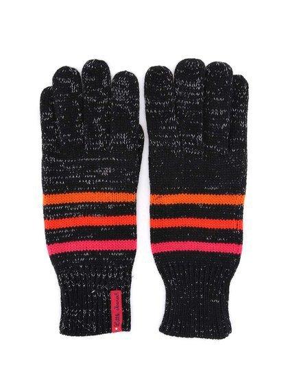 Černé pruhované rukavice protkané stříbrnou nití Little Marcel Gepinao, 455 Kč, www.zoot.cz