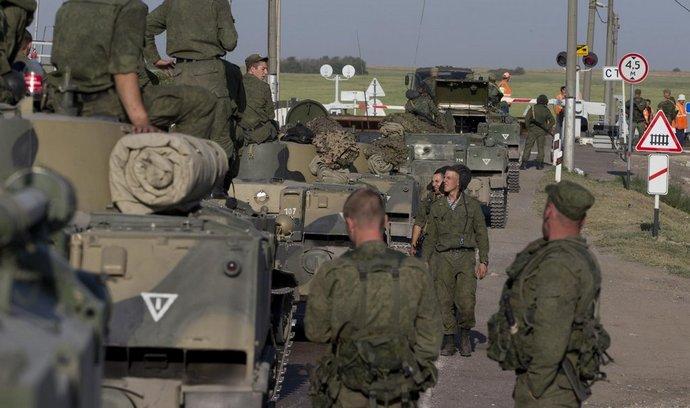 Ruská jednotka poblíž ukrajinské hranice u Rostova na Donu