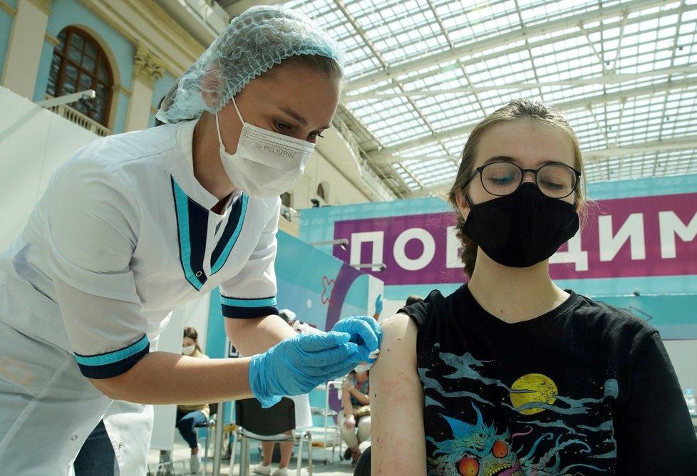 Očkování proti covidu-19 v Rusku.