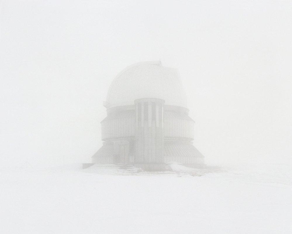 Opuštěná observatoř v Kazachstánu.