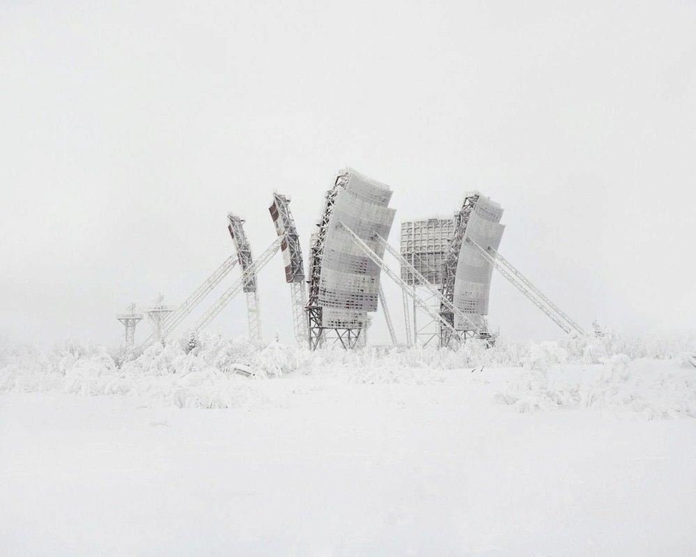 Jedna z mnoha troposférických rádiových stanic na severu Ruska. Všechny zůstaly opuštěny.