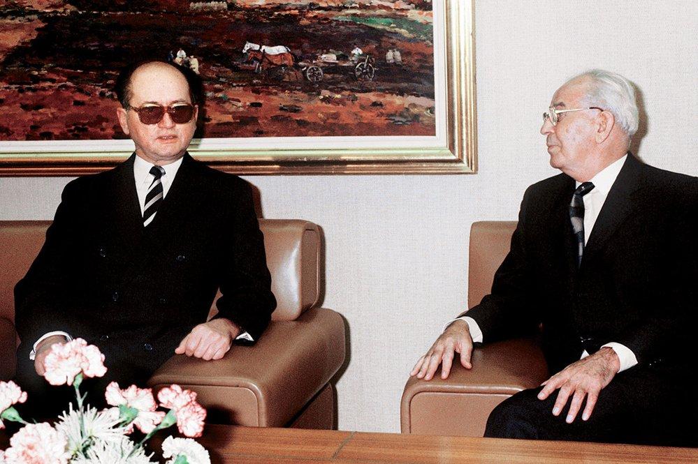 Setkání s polským premiérem Jaruzelským v roce 1984