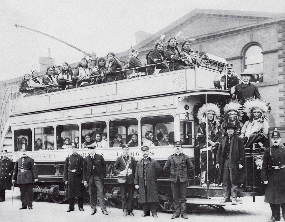 Buffalo Bill a spol. v Manchesteru někdy na začátku 20. století