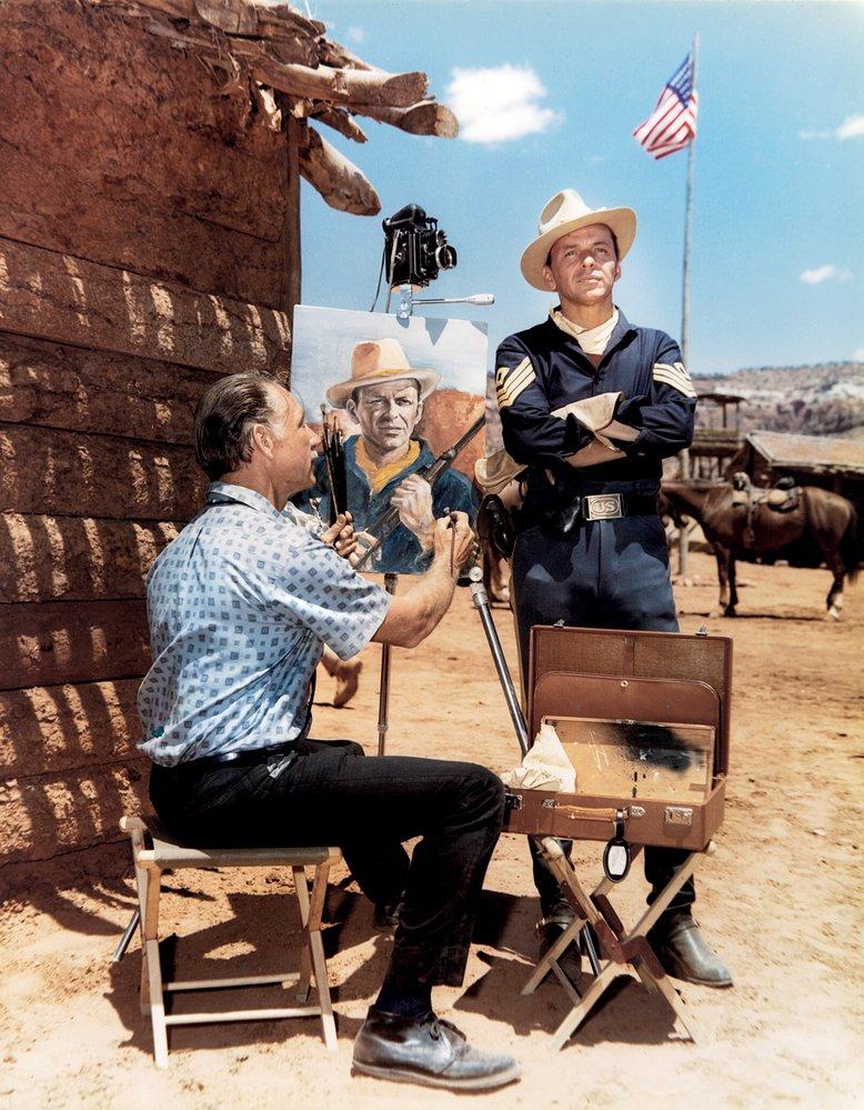 Takhle se Frank nechal portrétovat vroce 1961 při natáčení westernu Sergeants3