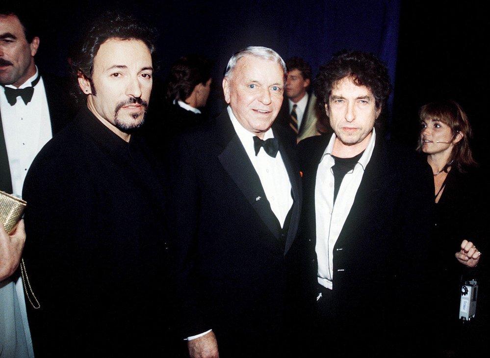 Bruce Springsteen,  Frank Sinatra aBob Dylan aneb Dějiny pop-music vkostce