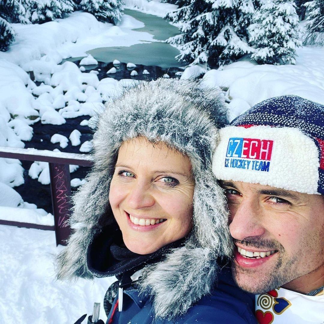 Lucie Šafářová s milovaným hokejistou Tomášem Plekancem