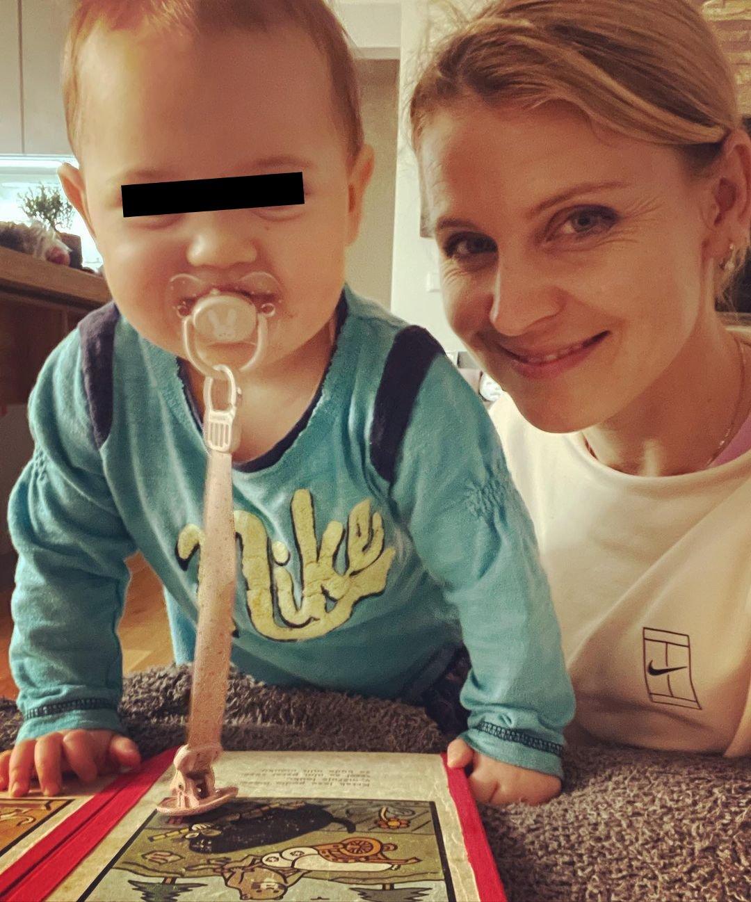 Lucie Šafářová s dcerkou Leontýnou