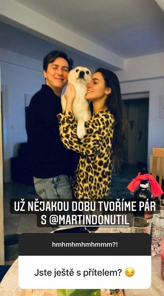 Sára Affašová a Martin Donutil tvoří pár