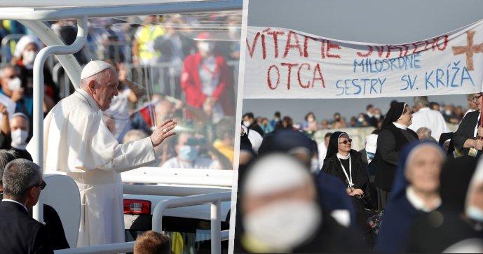 El magnífico final de la visita del Papa a Eslovaquia: una misa para decenas de miles de personas en la frontera checa