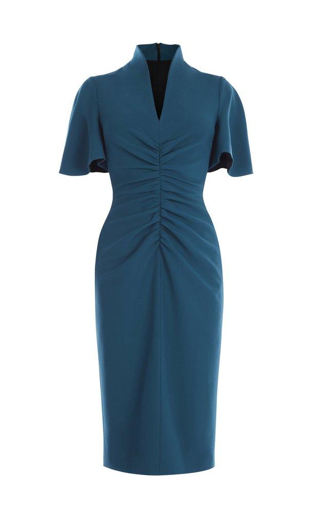 Šaty s nabíráním a zvonovými rukávy, Karen Millen, 7960 Kč