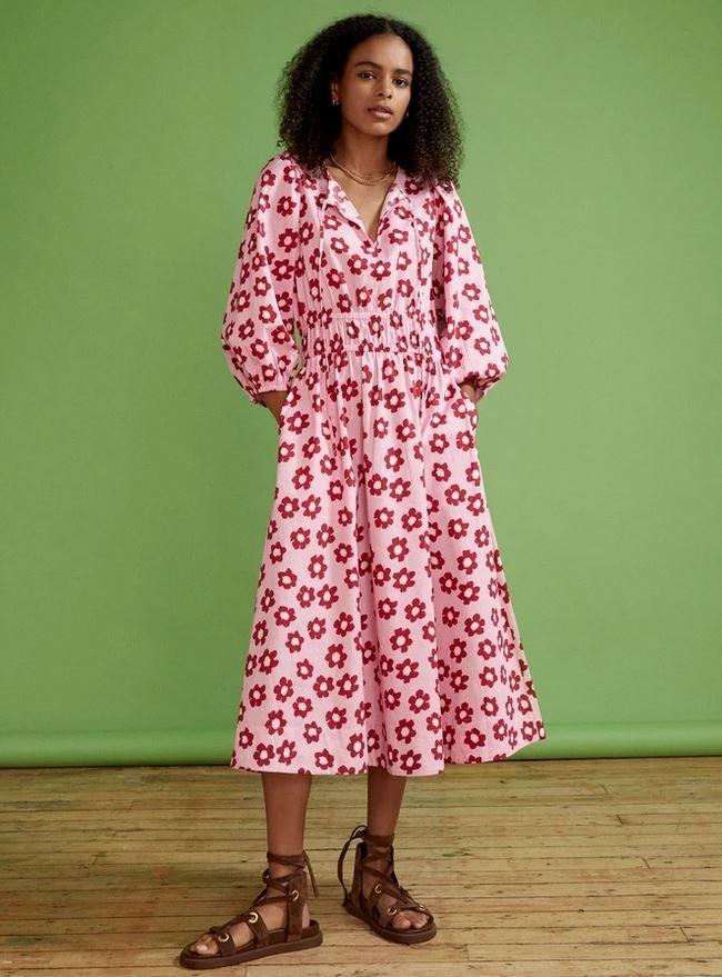 Bavlněné květinové šaty, Kitri Studio, 145 GBP