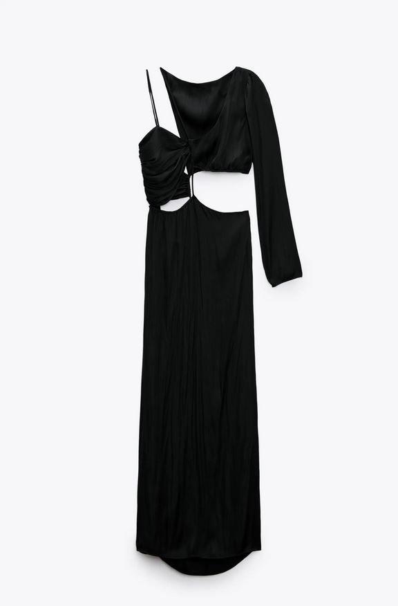 Midi šaty s prostřihy, Zara, 799 Kč