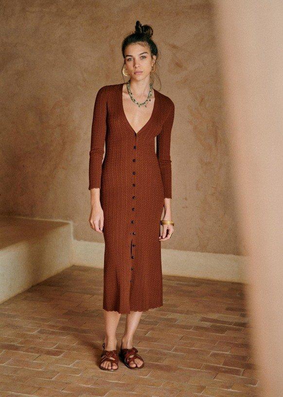 Šaty na knoflíky, Sézane, 140 EUR