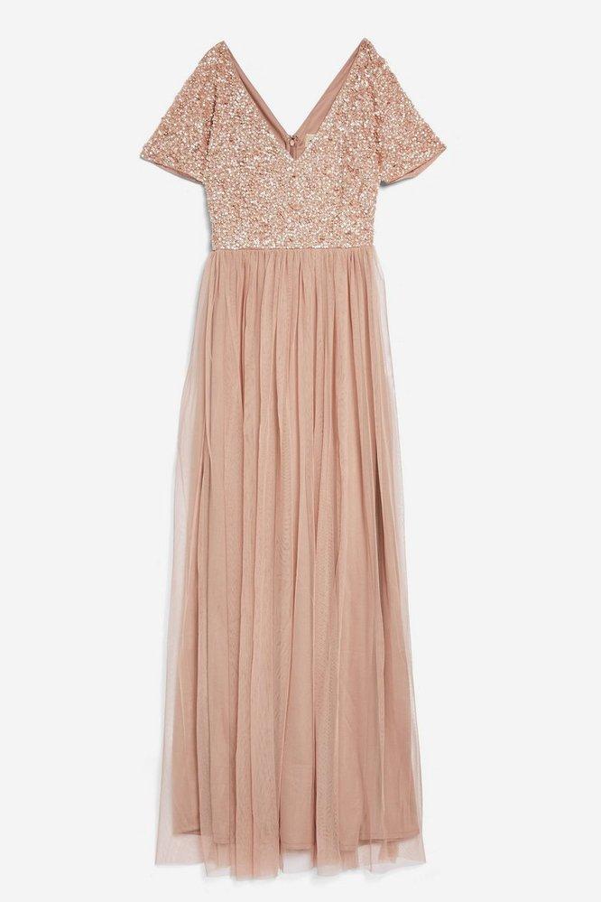 Nude plesové šaty, TopShop, £65