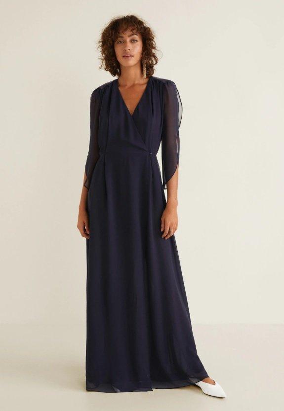 Dlouhé šifónové šaty, Mango, 1299 Kč