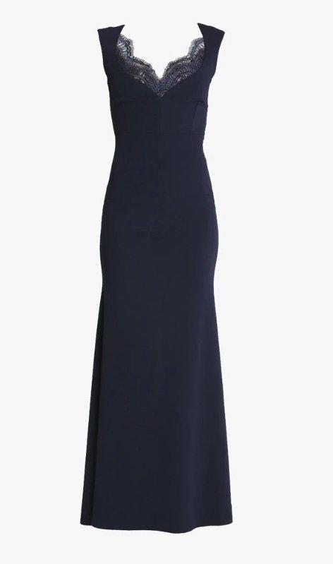 Temně modré šaty Sista Glam, zalando.cz, 2030 Kč