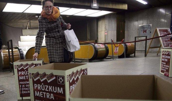 Sčítání cestujících v pražském metru