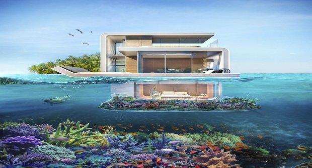 Sci-fi architektura: Plovoucí vila v Dubaji