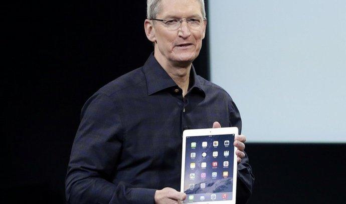 Šéf Applu Tim Cook představuje nový iPad Air 2