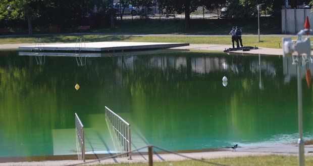 The Lhotka swimming pool ended the season prematurely.  Repairs are waiting for him