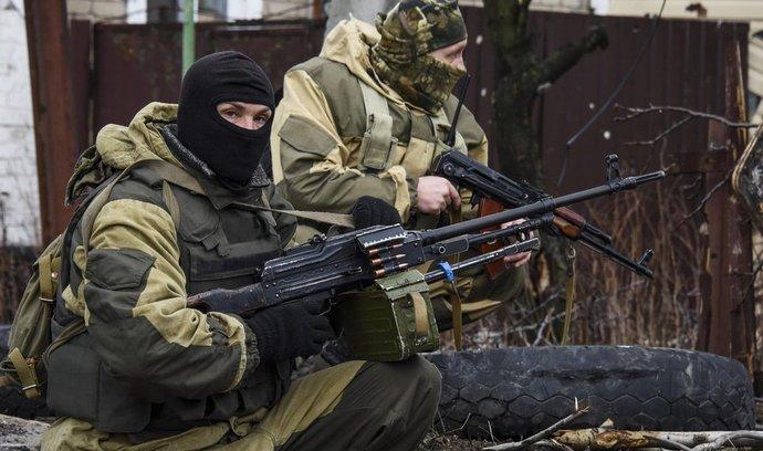 Separatisté na předměstí Doněcku