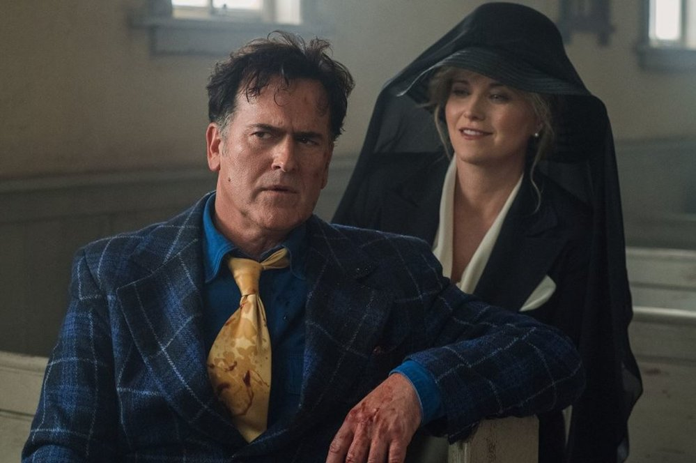 Bruce Campbell a Lucy Lawlessová
