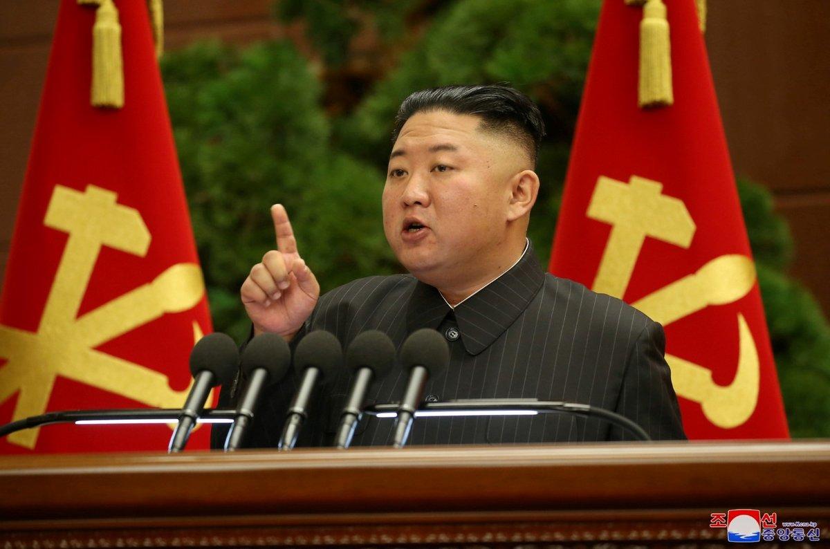 Severokorejský vůdce Kim Čong-un (červenec 2021)