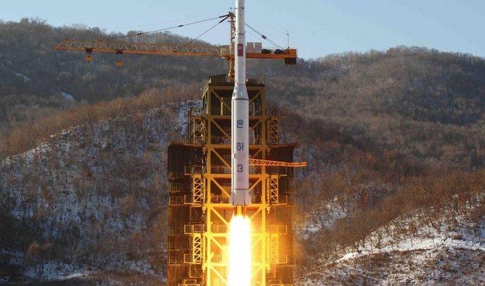 Severokorejská vesmírná raketa