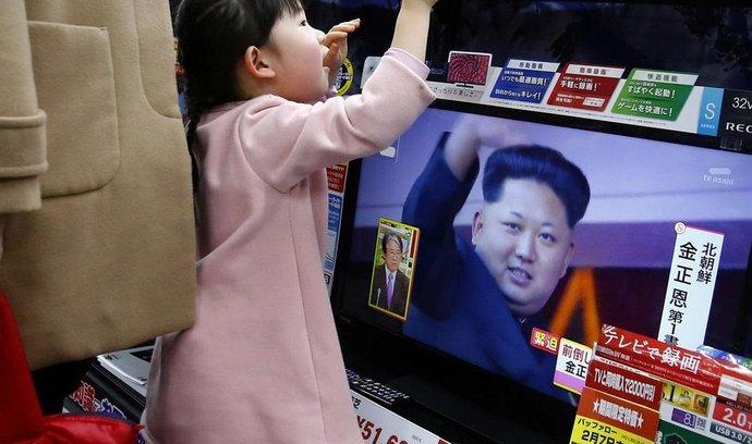 Severokorejský diktátor Kim Čong-un v japonské televizi
