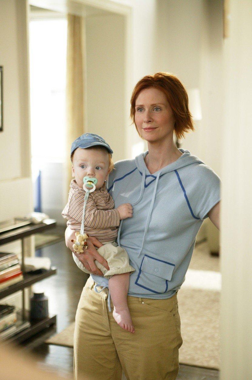 Miranda a její sym Brady v seriálu Sex ve městě