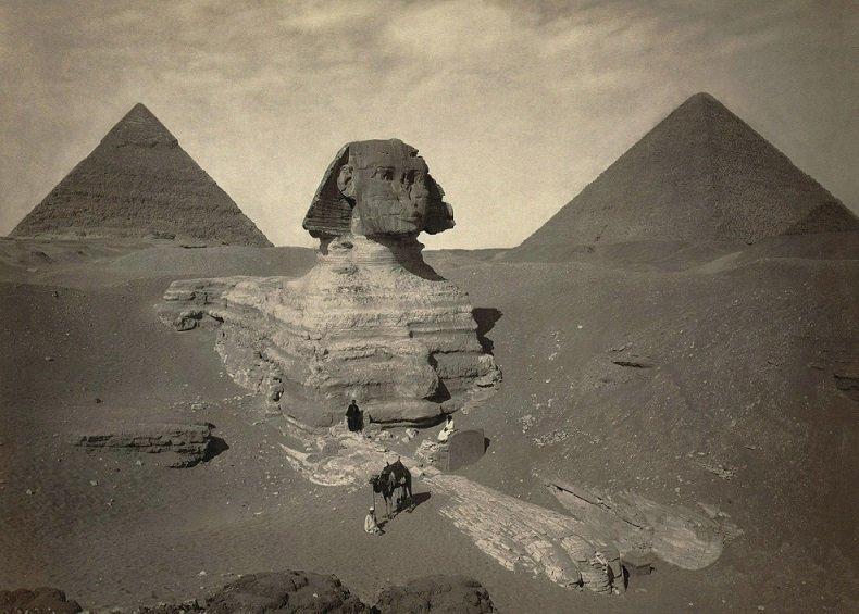 1860 - Velká sfinga v Gíze