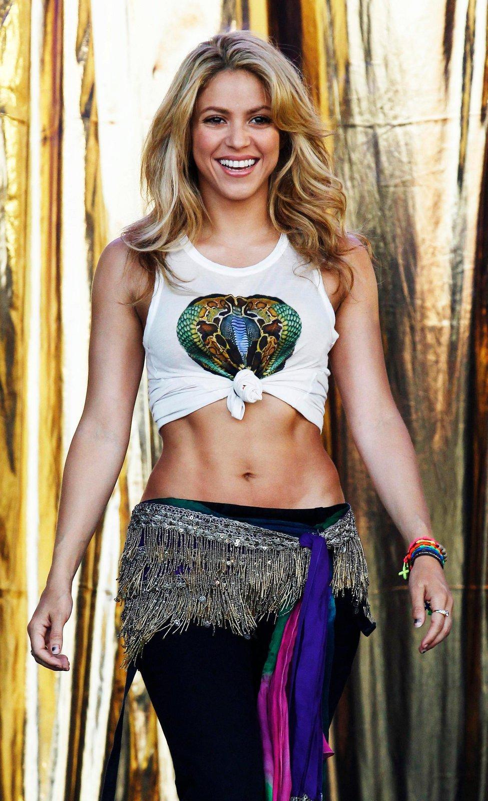 Shakira je jako divoká kočka, jejíž kariéra zčásti stojí na jejím perfektním bříšku...