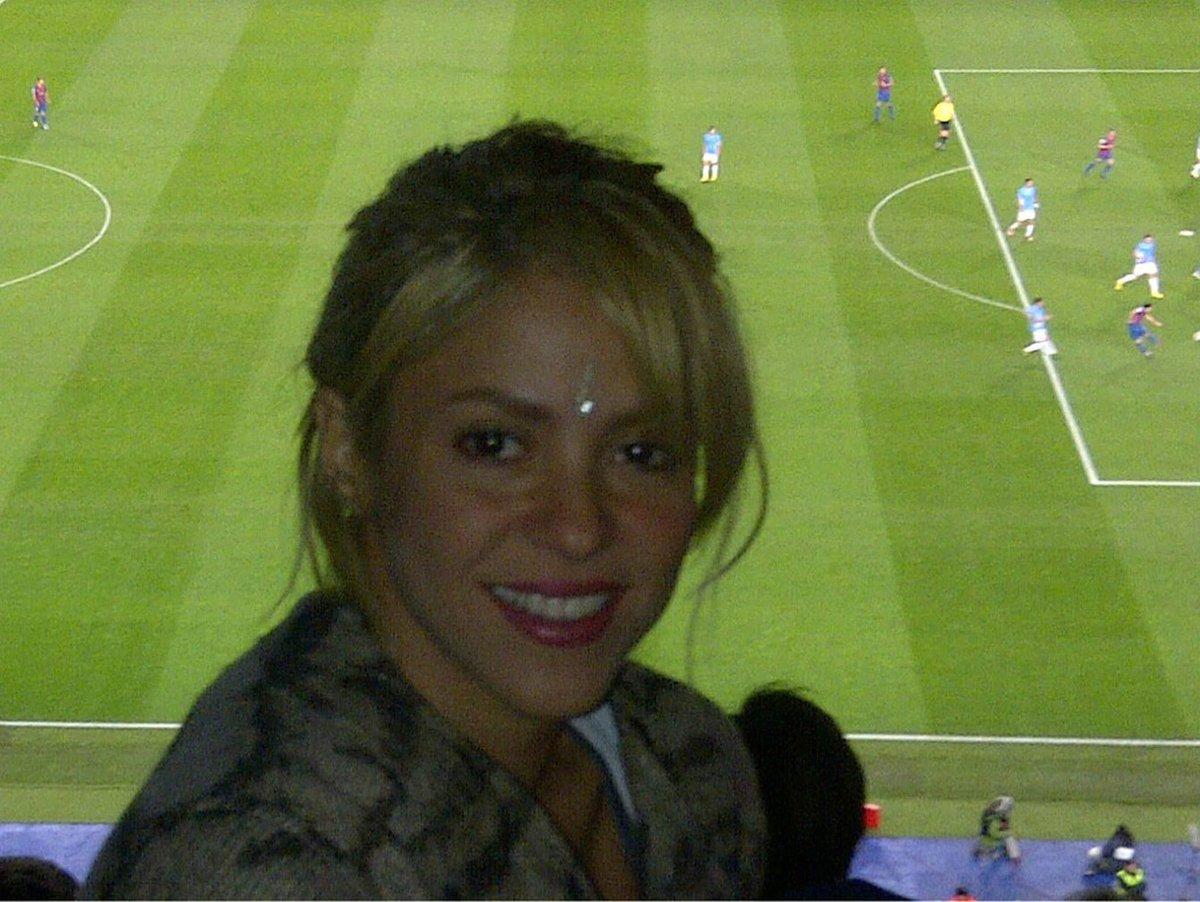 Shakira chodí svému fotbalistovi často fandit.