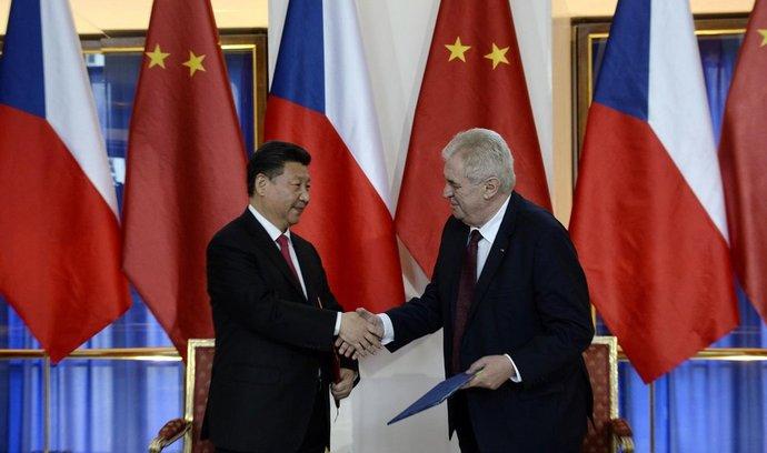 Si Ťin-pching, Miloš Zeman