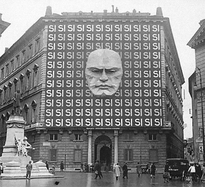 1934 - Sídlo Národní fašistické strany v Římě Benita Mussoliniho