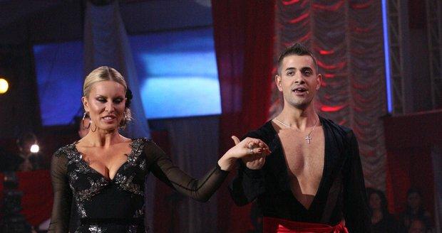 Simona Krainová a její taneční partner.