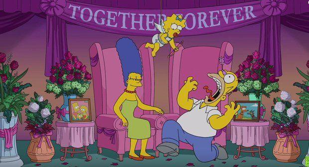 """Homer a Marge komentují """"rozvod"""" u Simpsonových"""
