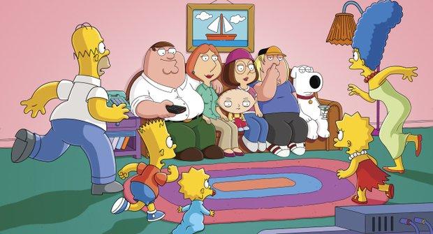 GALERIE Griffinovi otráví Simpsonovi: Dvě nej animované famílie pohromadě!
