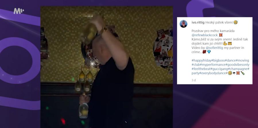 Rittigův taneček se šampaňským
