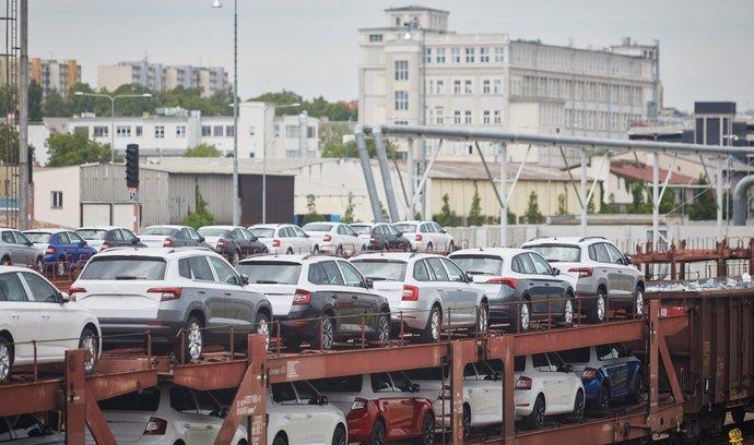 Vozy Škoda připravené na export