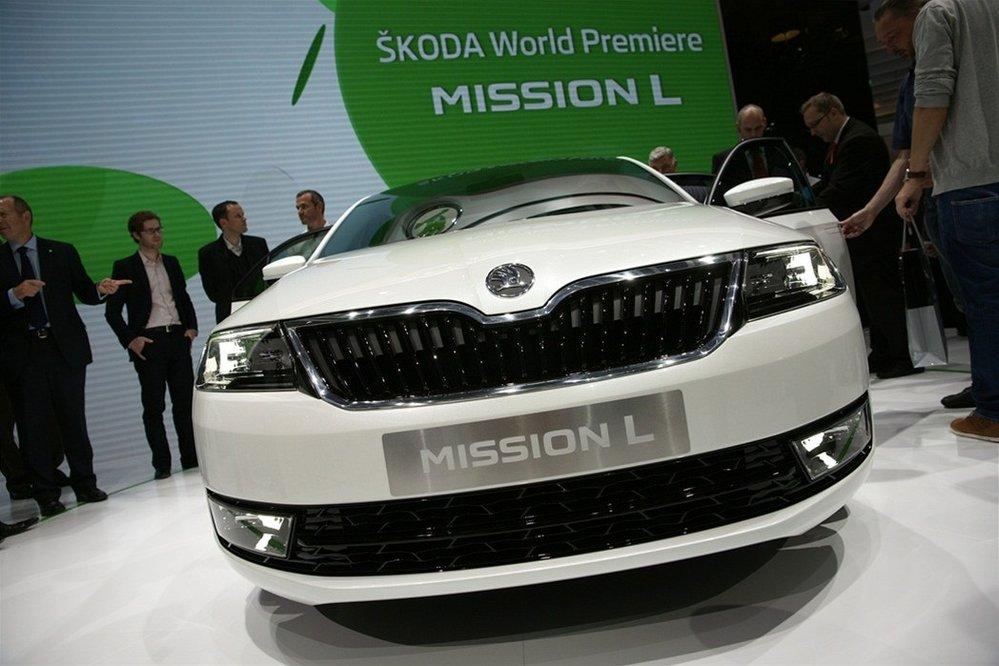 Škoda Mission L na veletrhu ve Frankfurtu