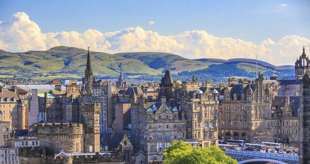 Pohled na Edinburgh, dějiště legendárního Trainspottingu